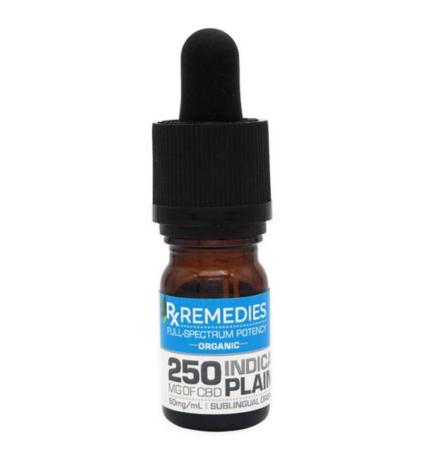 RX Remedies 250mg Indica Plain CBD Oil
