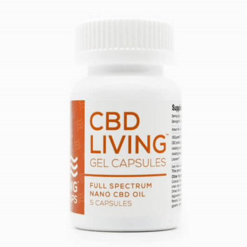 CBD Living CBD Gel Capsules 25mg