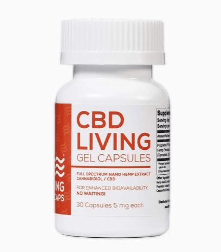 CBD Living CBD Gel Capsules 5mg