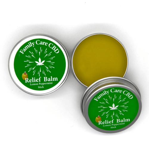 Family Care CBD Relief Balm Lemon Peppermint Scent