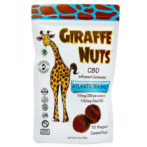 Giraffe Nuts 150mg CBD Infused Caramels Atlantic Sea Salt