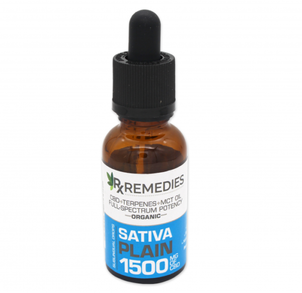 RX Remedies 1,500mg Sativa Plain CBD Oil