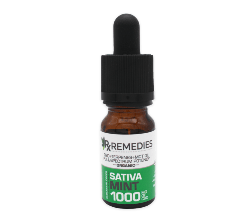 RX Remedies 1,000mg Sativa Mint CBD Oil