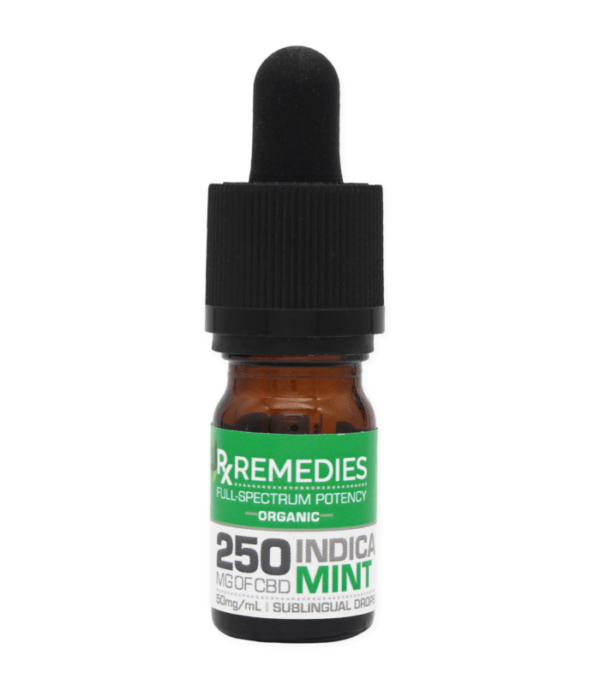 RX Remedies 250mg Indica Mint CBD Oil