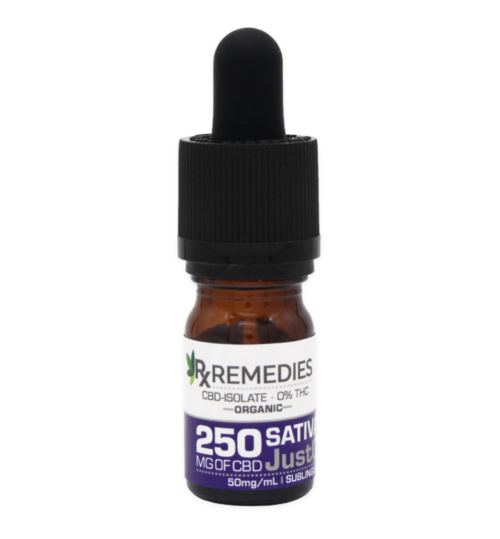 RX Remedies 250mg Just CBD Sativa Isolate Oil