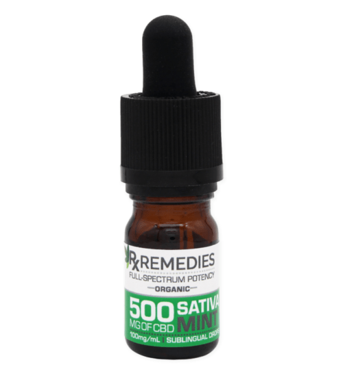 RX Remedies Extra Strength 500mg Sativa Mint 5mL CBD Oil
