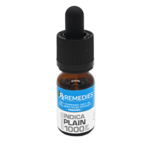 RX Remedies 1,000mg Indica Plain CBD Oil