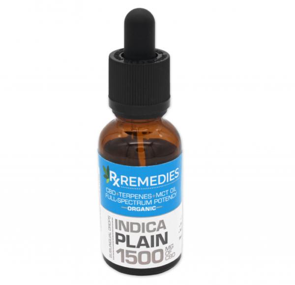 RX Remedies 1,500mg Indica Plain CBD Oil