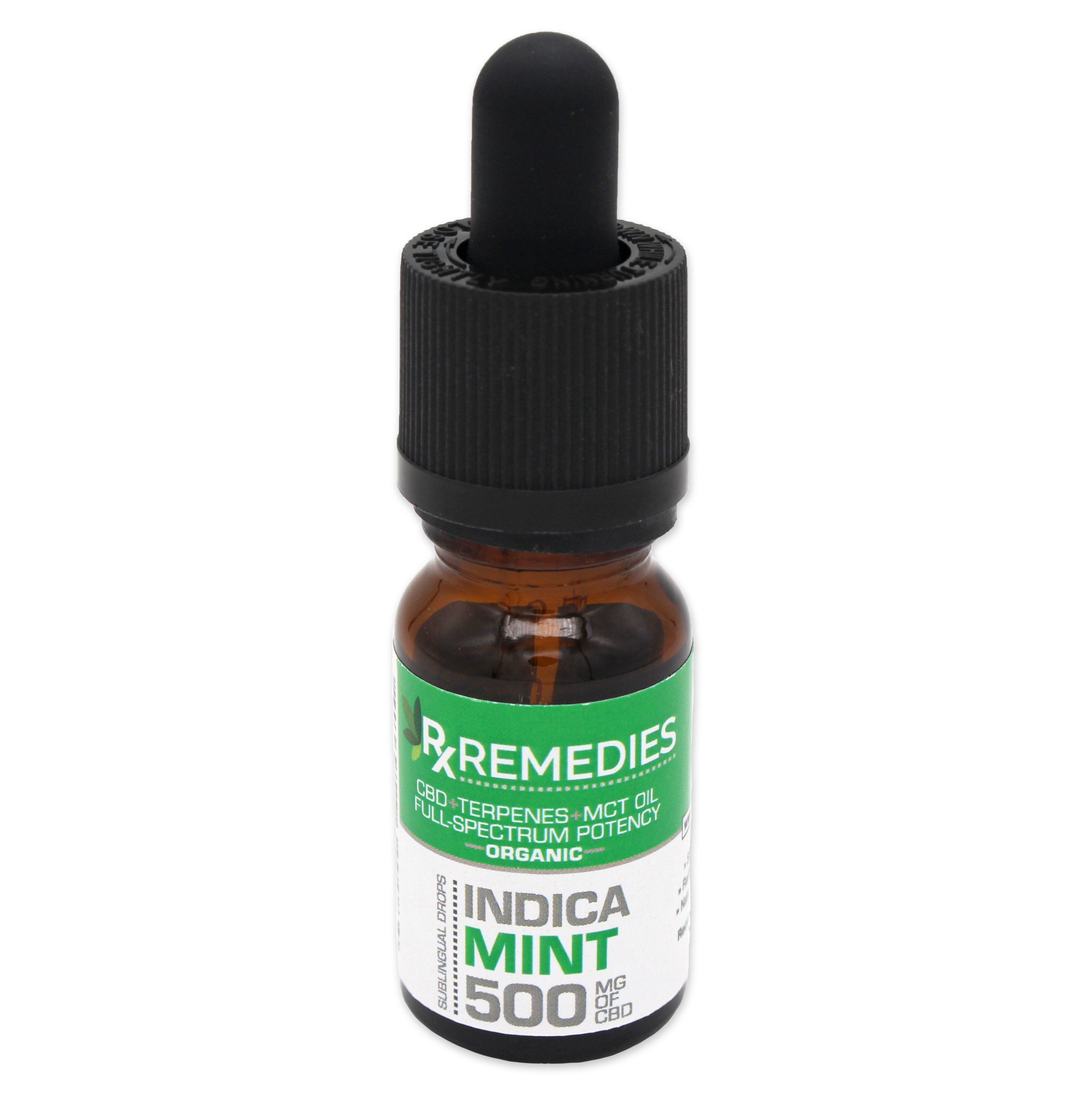 RX Remedies Extra Strength 500mg Indica Mint 10mL CBD Oil