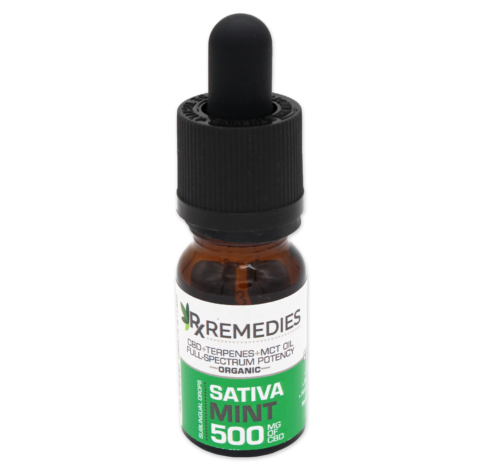 RX Remedies Extra Strength 500mg Sativa Mint 10mL CBD Oil