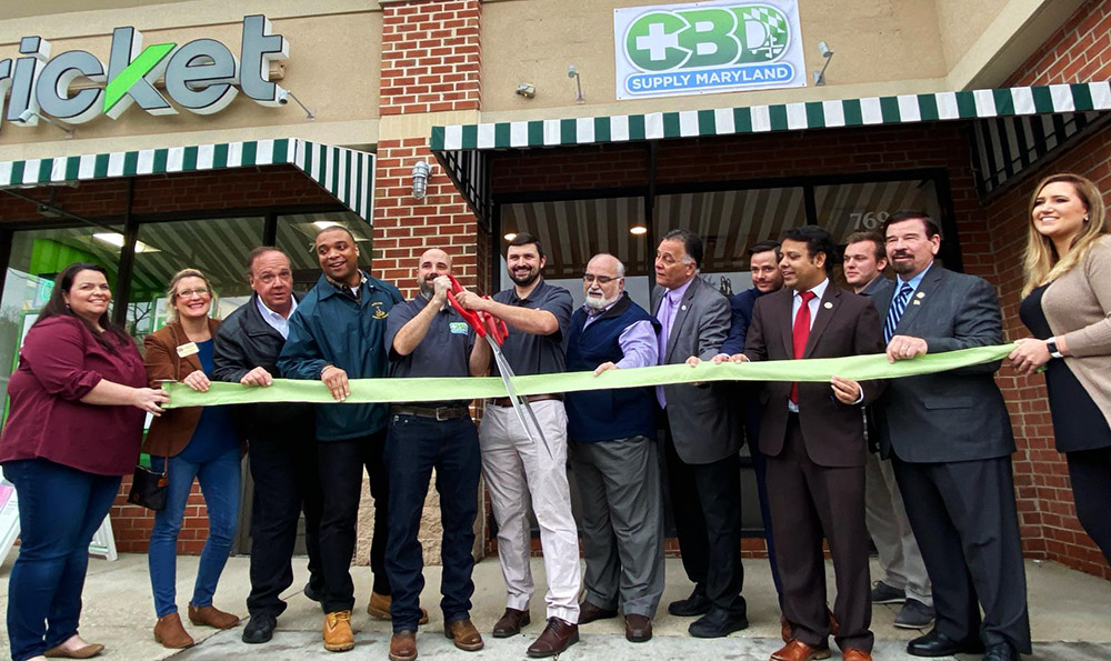 CBD Supply Maryland Grand Opening. Ribbon cutting on 1/4/2020