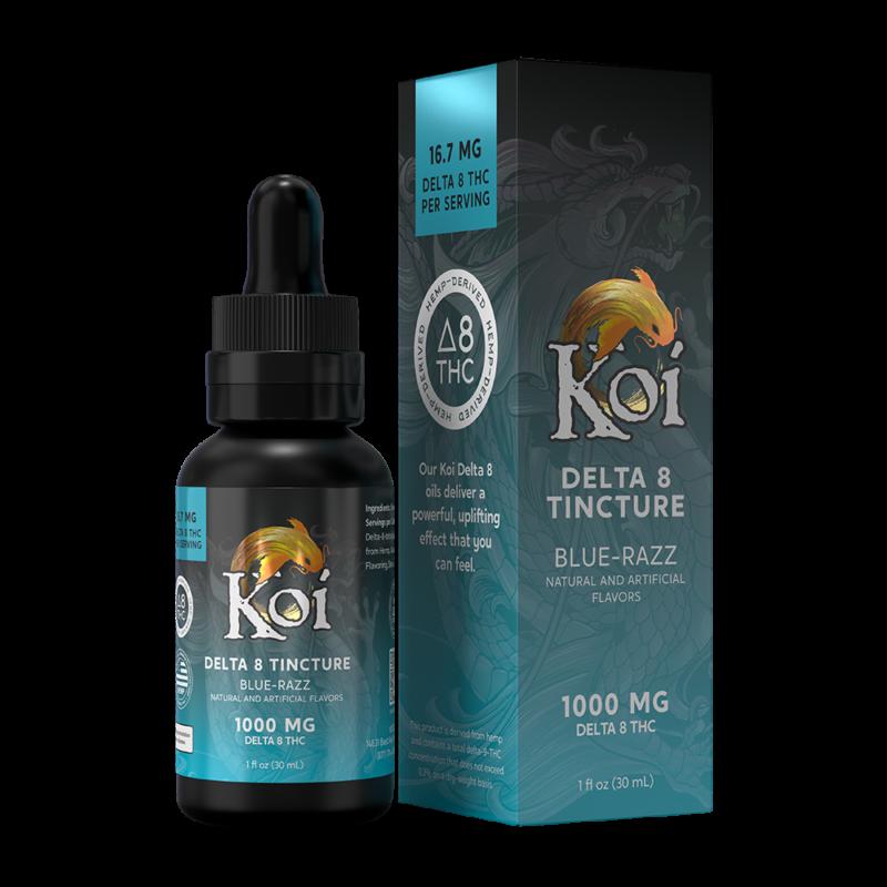 Koi Blue Razz 1,000mg Delta 8 THC Oil